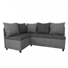 Разтегателен кухненски диван с2 ракли ANDOLI Kadis  lt grey  дамаска  с 5 броя големи възглавници