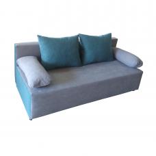 Разтегателен диван с ракла ANDOLI GALQ siv-sin, С 2 броя големи и 2 броя подлакътни възглавници