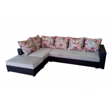 """Разтегателен ъглов диван """"ANDOLI ANDI pr, Дамаска и еко кожа с три ракли"""