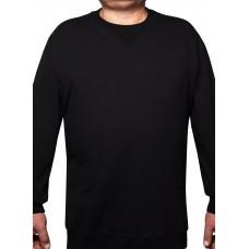 Big Shield Мъжка блуза с дълъг ръкав леко ватирана, памук черно, некардирано