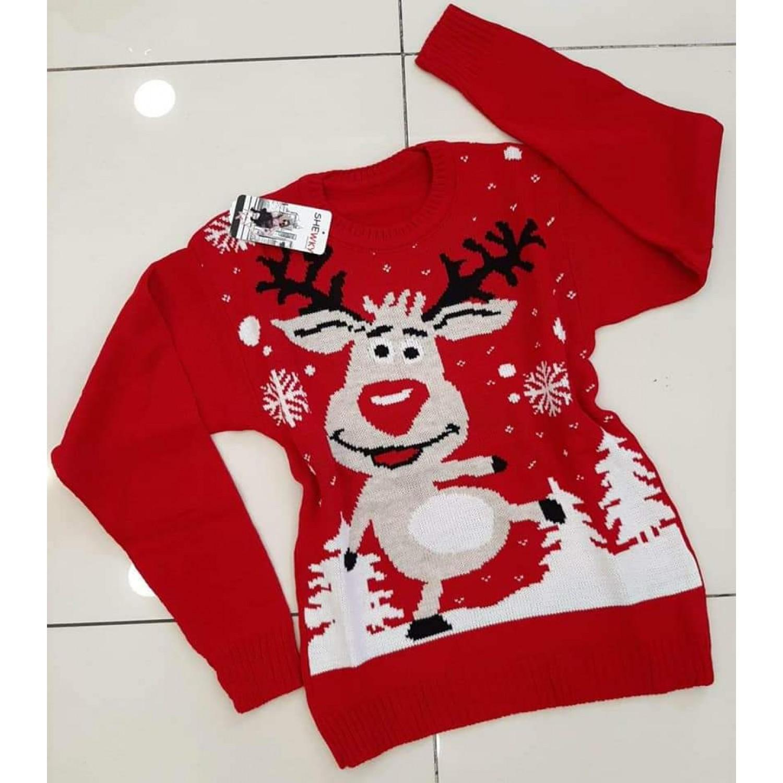 Коледен пуловер с Рудолф