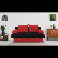 Разтегателен диван с ракла ANDOLI Mz blac, С 2 броя големи и 2 броя подлакътни възглавници