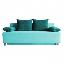 Разтегателен диван с ракла ANDOLI GALQ BLUE WFS, С 2 броя големи и 2 броя подлакътни възглавници