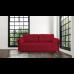 Разтегателен диван с ракла ANDOLI MAGI RED LT WFS  дамаска с 2 броя големи възглавници и 2бр. малки