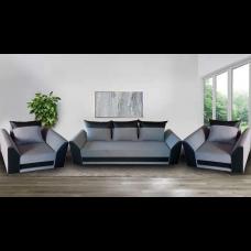 Холна гарнитура ANDOLI Karina Gray с разтегателен диван и 2 броя фотьойли