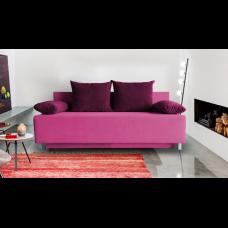 Разтегателен диван с ракла ANDOLI GALQ PURPUL WFS, С 2 броя големи и 2 броя подлакътни възглавници