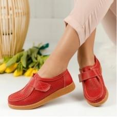 Дамски обувки-естествена кожа - KEA RED