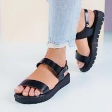 Дамски сандали от естествена кожа Vassy-Black