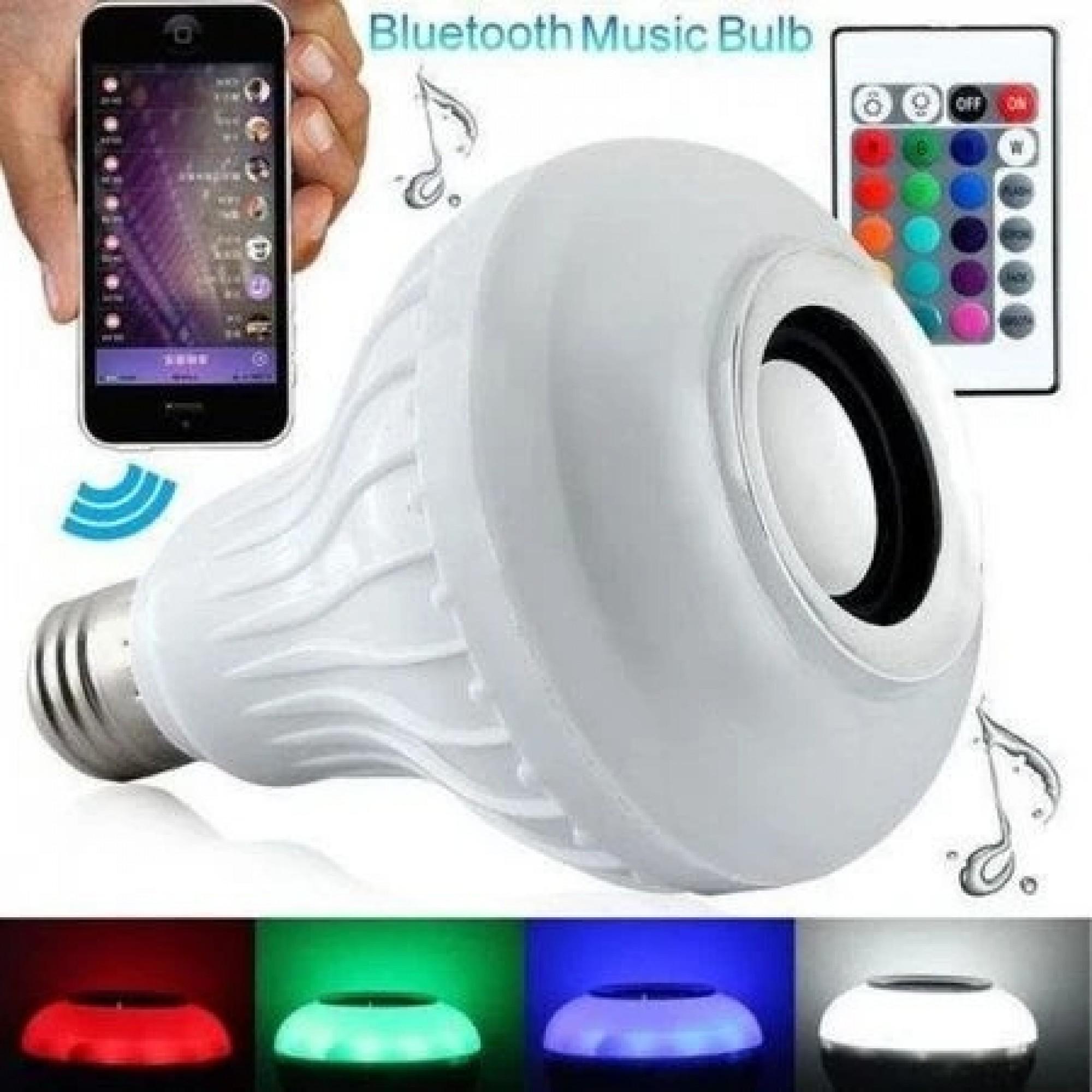 Smart крушка с Bluetooth музикална колонка