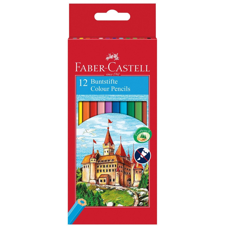 Цветни моливи 12 цв.Faber Castel