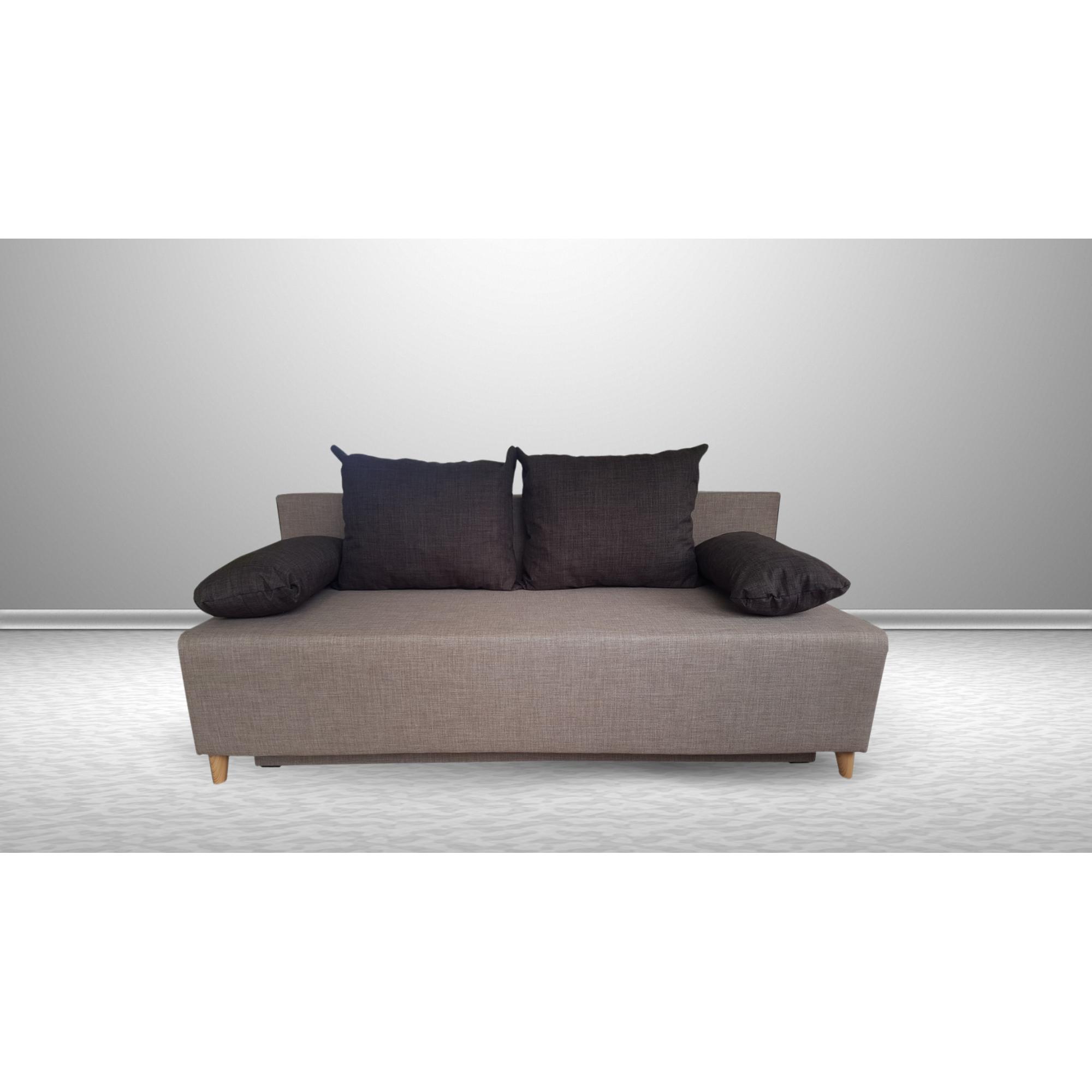 Разтегателен диван с ракла ANDOLI GALQ nova moca, С 2 броя големи и 2 броя подлакътни възглавници