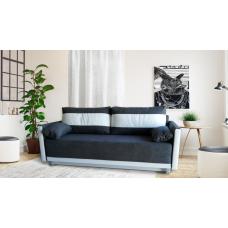 Разтегателен диван с ракла ANDOLI GeRi DK GREY WFS дамаска , с 2 броя големи възглавници и 2 бр. малки