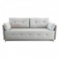 Разтегателен диван с ракла ANDOLI MAGI GREY LT WFS, дамаска , с 2 броя големи възглавници и 2бр. малки
